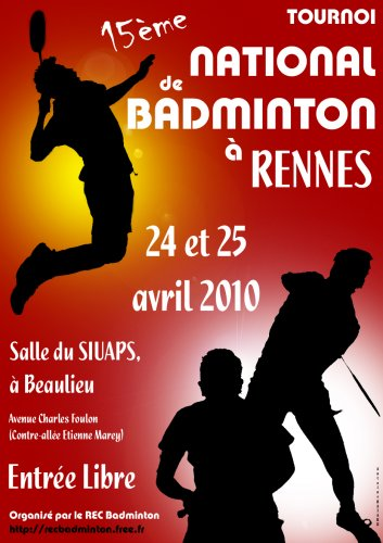 Affiche du tournoi national 2010