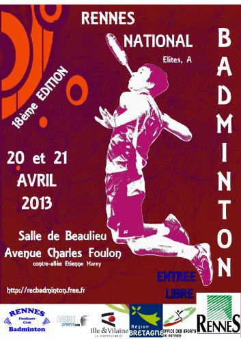 Affiche du tournoi national 2013