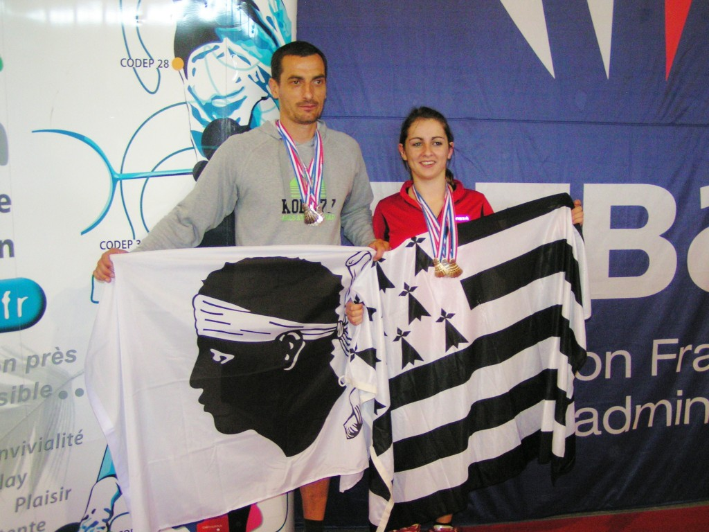"Laurent et Faustine ""Vice-Champion de France Double Mixte"""